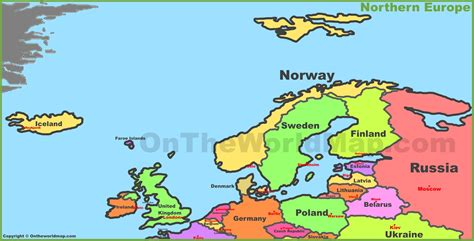 map of northern europe map of northern europe