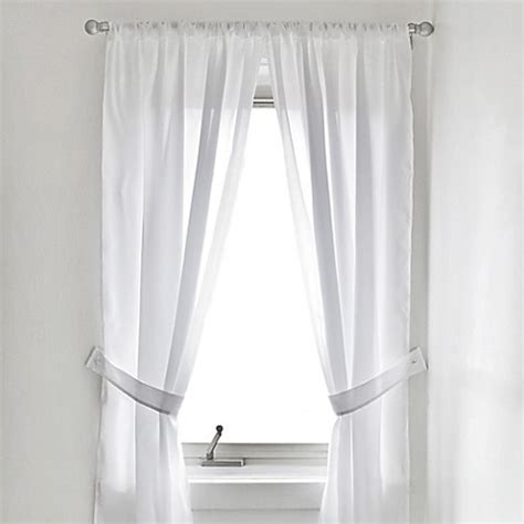 bathroom curtains for window vinyl bathroom window curtain in white bed bath beyond