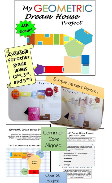 home design math project geometry project dream house 4th grade shape student