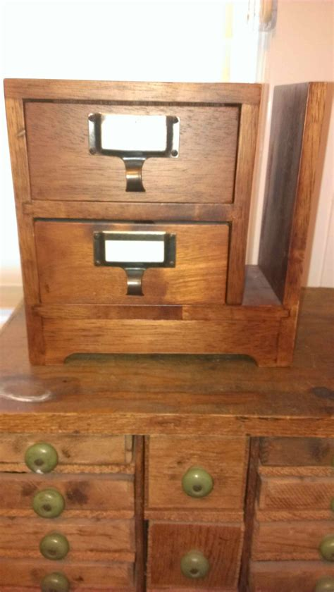 Mail Desk Organizer Drawers Wooden Vintage Letter Mail Organizer Desk