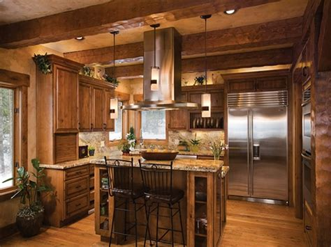 Log Home Kitchen Design Ideas log home open floor plan kitchen luxury log cabin homes