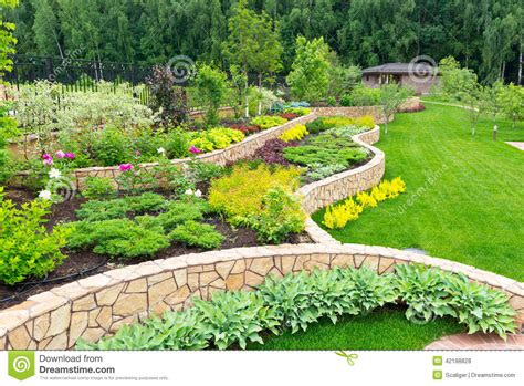 home garden pictures landscaping in home garden stock photo image