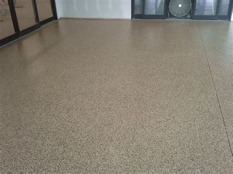 Vinyl Chip Epoxy Shopping Center Floor   Diamond Kote