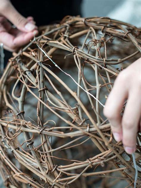 how to make illuminated grapevine spheres hgtv