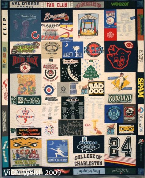 T Shirt Quilt Atlanta by Tshirt Quilt Colorways By Vicki