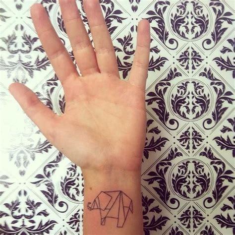 paper elephant tattoo origami elephant tattoo mi tatuaje pinterest