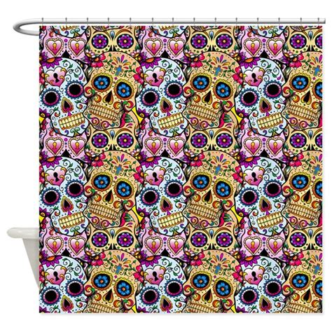 Of The Dead Shower by Day Of The Dead Shower Curtain By Highaltitudes3