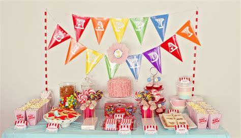 Gaga 1st Birthday Centerpiece Dekorasi Meja circus theme dessert table for birthday 1st birthday ideas dessert