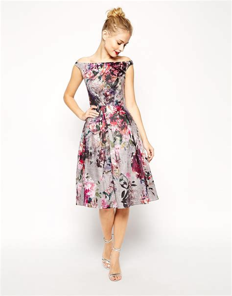 Dress Midi Flower floral printed midi dress all the dresses