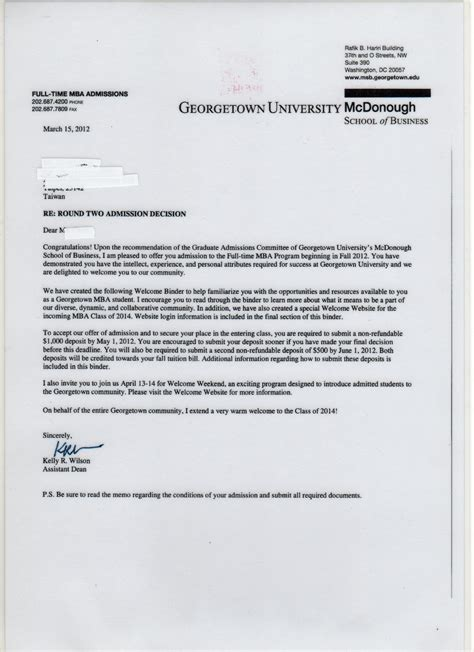 Secondary School Acceptance Letter Northern Ireland Image Gallery Notre Dame Admission Letters