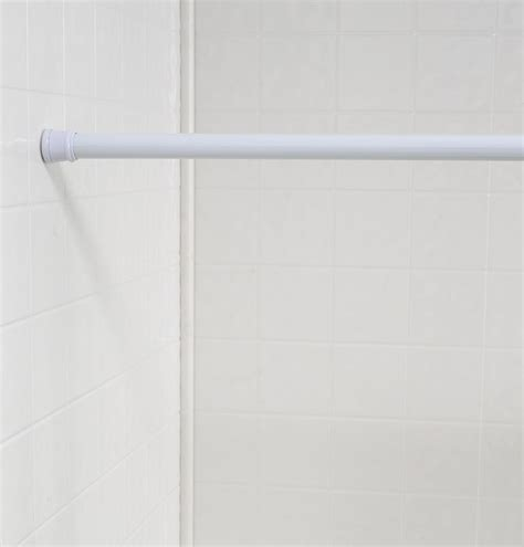 how long is a shower curtain rod carnation home fashions inc shower curtain tension rods