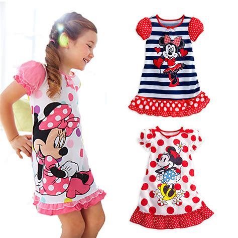 Piyama Minnie Mouse Import knb summer minnie mouse dress baby next pijamas sets summer dress 2014