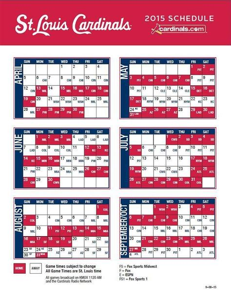 Cardinals Baseball Schedule Giveaways - best 25 cardinals schedule ideas on pinterest stl cardinals schedule cardinals