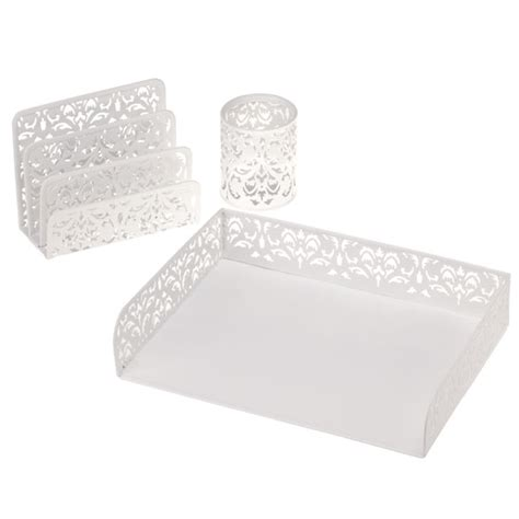 damask desk accessories damask desktop accessories set of 3 desk organizers