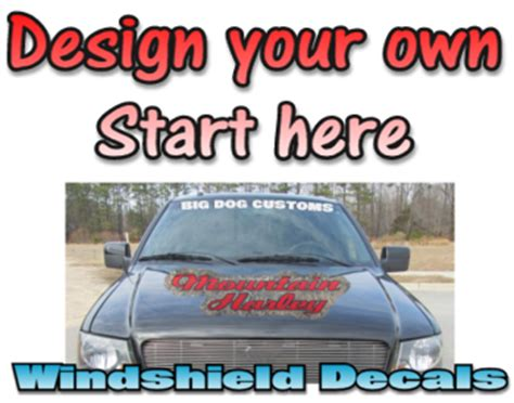 Auto Decal Installation In Maryland by Custom Vinyl Windshield Banner Vinyl Decal