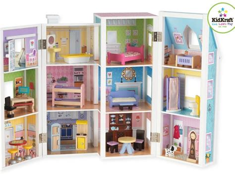 doll houses for kids kidkraft deluxe townhouse dollhouse kids woot