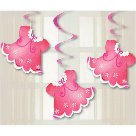 bathtub clothesline pink clothesline baby shower dangling swirl cutouts 3 at dollar carousel