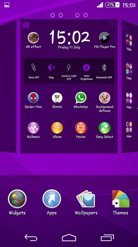 violet themes for android vintage violet xperien theme android apps on google play