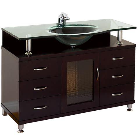 Modern Glass Bathroom Vanities by Accara 42 Quot Bathroom Vanity With Drawers Espresso W