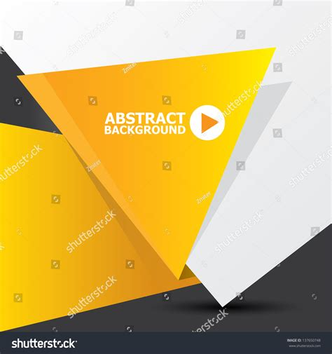 Orange Origami Paper - abstract white and orange paper origami background vector