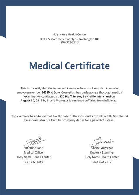 templates for medical certificates 28 medical certificate templates in pdf free premium