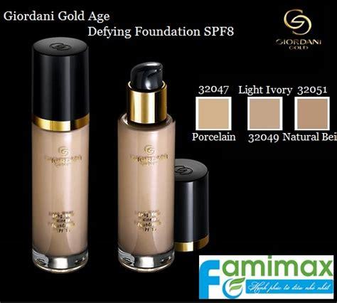Giordani Gold Age Defying Foundation Spf 8 Oriflame kem nền oriflame giordani gold age defying foundation spf8