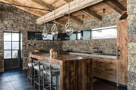 Mediterranean Kitchen Cabinets - 30 inventive kitchens with stone walls