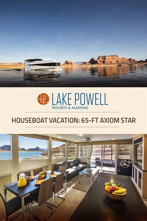 houseboats az axiom star luxury houseboat rental lake powell resorts