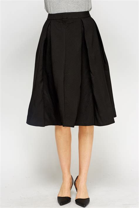 high waist black midi skirt just 163 5