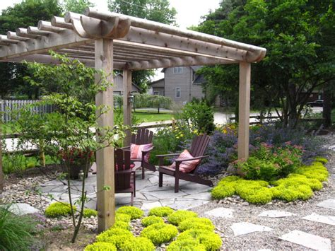 rustic landscaping ideas for a backyard rustic pergola traditional landscape other metro
