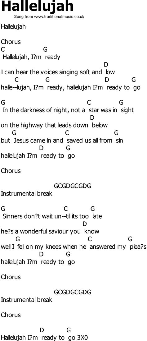 song lyrics and chords country song lyrics with chords hallelujah