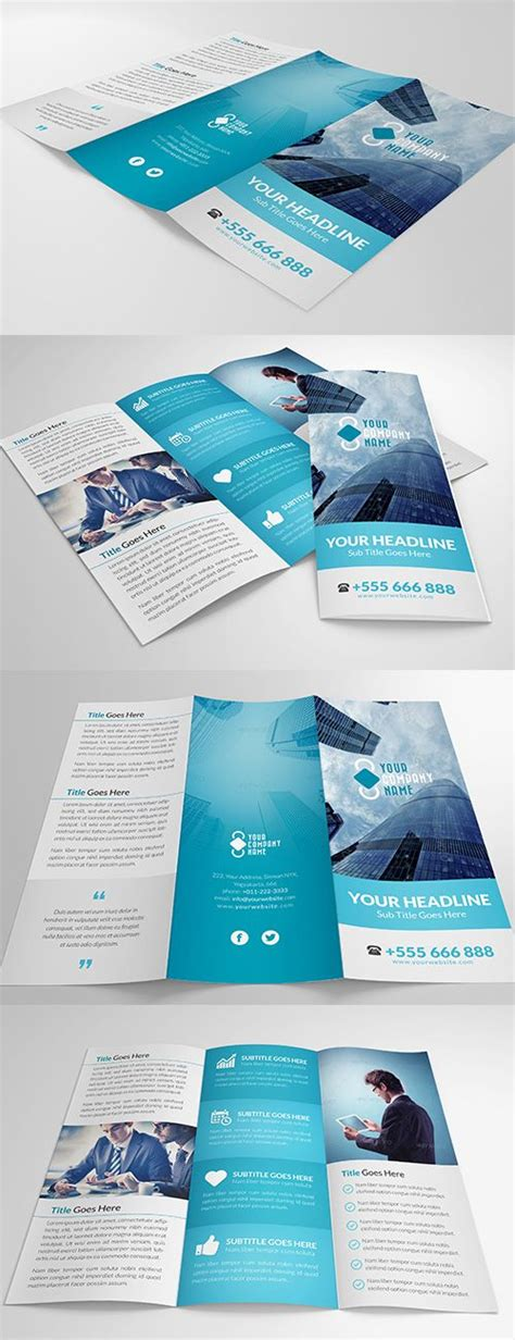 flyer design inspiration pinterest elegant multipurpose trifold brochure design pinterest