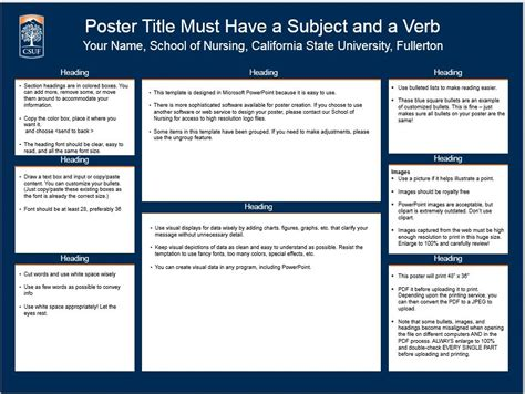poster board template poster template 187 powerpoint poster templates for research