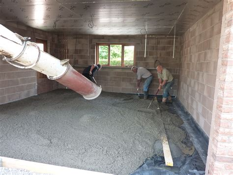 how to build floor laying of concrete on garage floor taylor lane timber frame