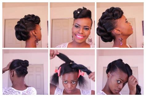 natural hairstyles step by step step by step on this fab natural hair updo check it out
