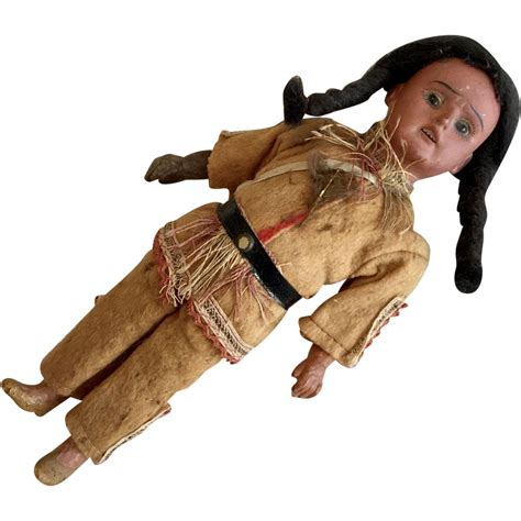 german indian german scowling indian antique bisque am doll american original from