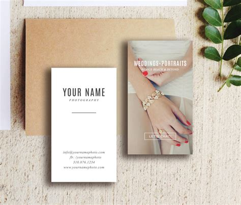 wedding photography business card template digital photoshop