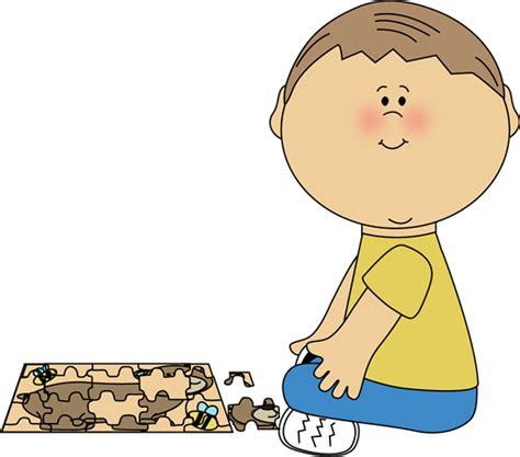 Boys Puzzle by Boy Putting Puzzle Together Clip Boy Putting Puzzle