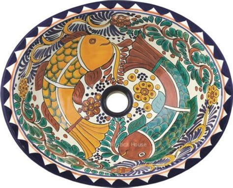 mexican ceramic sinks bathroom mexican bathroom sink mexican tiles 169 kitchen bath stairs