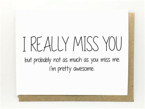 printable miss you quotes funny i miss you card i really miss you but by cheekykumquat