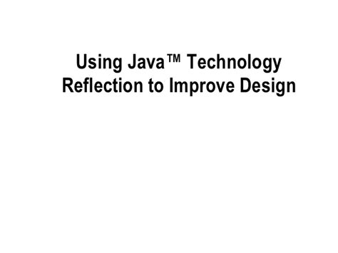 proxy pattern in java using reflection reflection in java