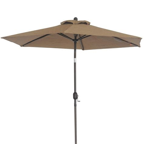 Brown Patio Umbrella Sunjoy 9 Ft Market Patio Umbrella In Brown 110211003 The Home Depot
