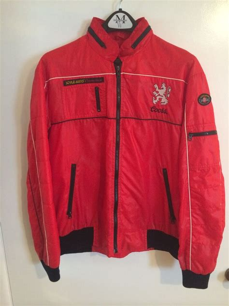 mens  hipster vintage retro coors racing jacket style