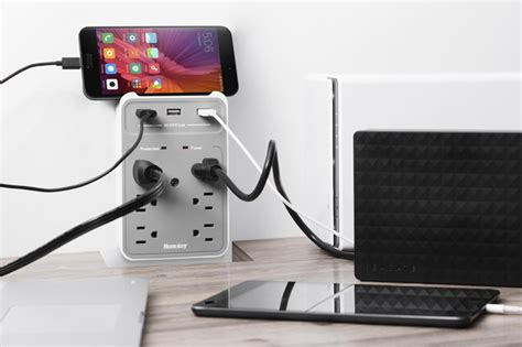 how to mount a power strip to a desk huntkey upgraded wall mount power strip is available on amazon
