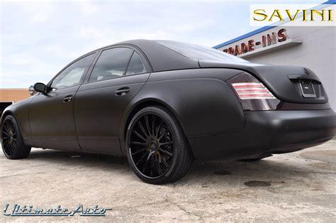 black on black maybach maybach savini wheels