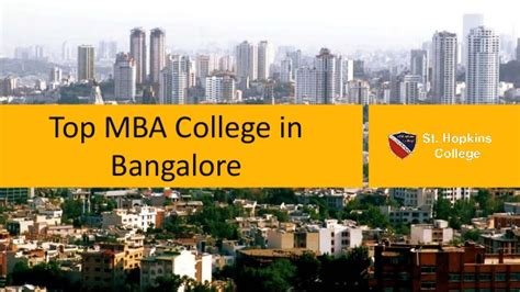 College Bangalore Mba Reviews by Top Mba College In Bangalore