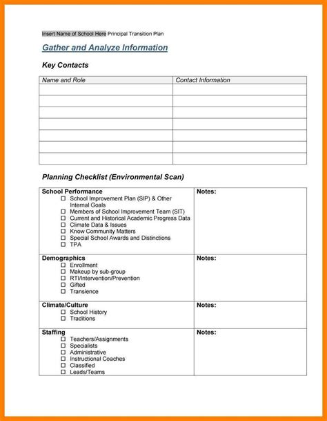 staff establishment template work transition plan template model