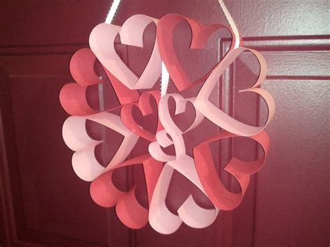 craft paper hearts paper wreath craft ideas
