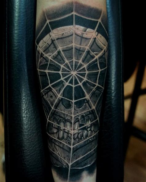 web tattoo designs spider web skull best ideas gallery