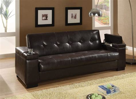 sofa beds faux leather convertible sofa sleeper with